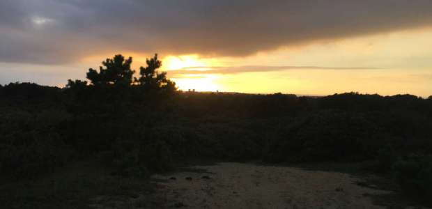 Sunset over the Shawkemo Hills