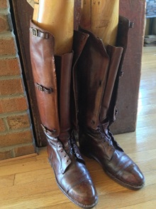 Pair of World War I Leather Aviator Boots