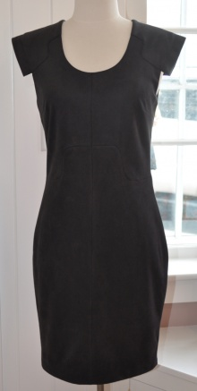 black suede dress