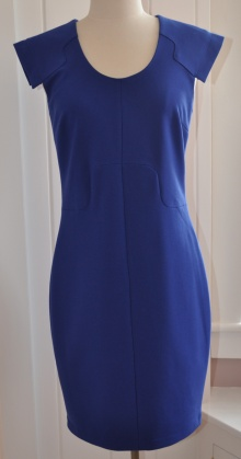 blue suede dress
