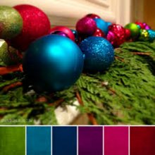 Holiday color palette in jewel tones