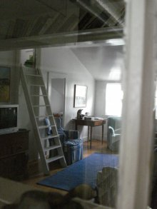 Loft ladder, Willow Harp, 'Sconset