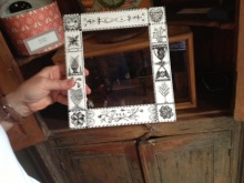 Scrimshaw Frame at 1800 House Nantucket