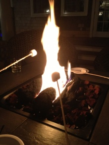 smores over the fire