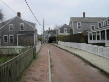 One of Nantucket's more unique streets.
