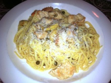 Chicken Piccata with Spaghetti at Fusaro's