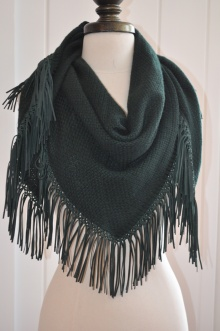 leather and woll scarf