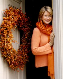 Normally a champion for natives, Martha Stewart Living still promotes this wreath project. Photos from www.marthstewart.com