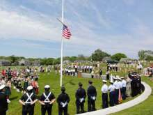 Memorial Day service at Nantucket cemetery