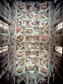 Mural of the Ceiling of the Sistine Chapel- Post restoration by Murals your Way.com