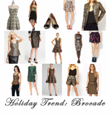 Holiday trends--brocades