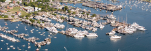 A full harbor. —Photo courtesy of the Nantucket Boat Basin.
