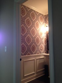 Contemporary  wallpaper with classic influences