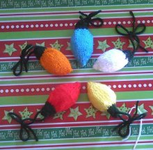 Nantucket Knitted Christmas Tree Light Ornaments