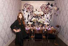 Stacy Garcia at  her Dining by Design room