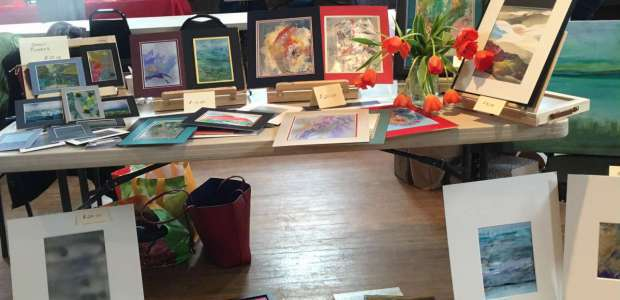 My Art Table at the Art and Craft Fair