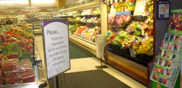 Veggie aisle at Stop and Shop