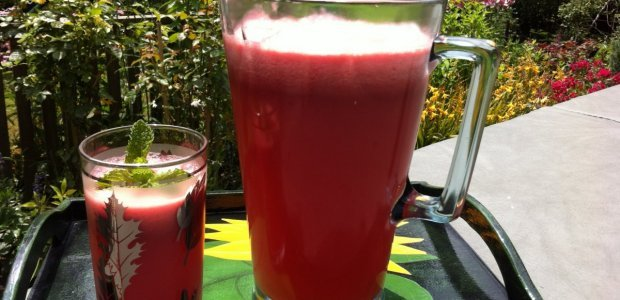 Watermelon, Lime and Ginger Juice.