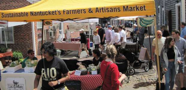 A busy farmer's market this summer.