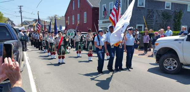 Memorial Day Parade on Washington Street, Nantucket