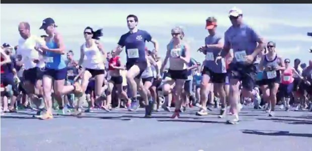 Start of the Road Race, Iron Man Relay Team