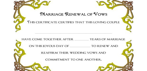 Marriage Renewal Of Vows