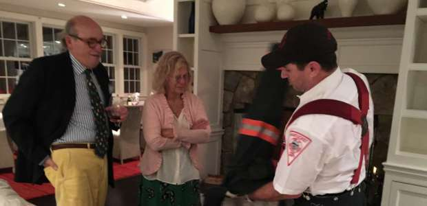 Dinner party with Firemen