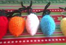 Knitted Christmas Tree Light Ornaments