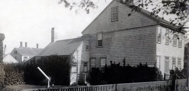 An early twentieth century view of the birthplace of Maria Mitchell, from which she had her father studied the stars above Nantucket.  Photograph courtesy of the Nantucket Maria Mitchell Association.
