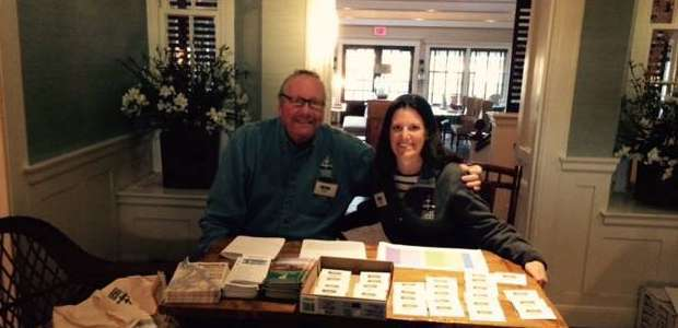 Vern and Sarah at the LLNF Birding Festival in 2015