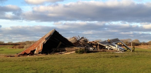 Sconset barn destroyed by storm