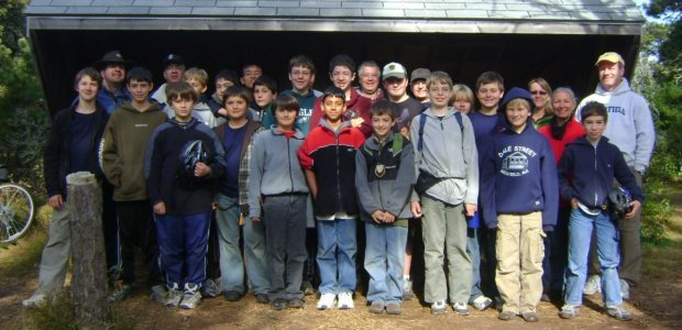 Medfield Boy Scouts in Nantucket, 2009