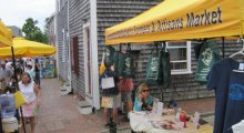 Sustainable Nantucket's Farmers & Artisans Market on a busy Saturday last summer.
