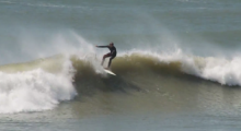 Nantucket Surfing on south shore, August 2014