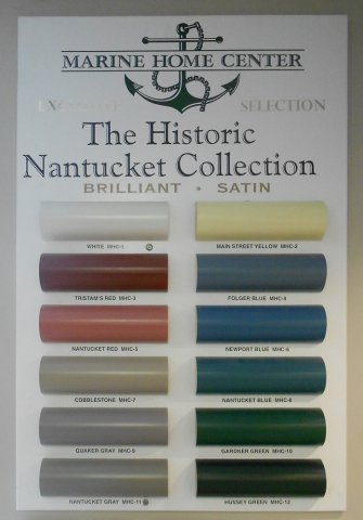 The Color Chart According To Marine Home Center