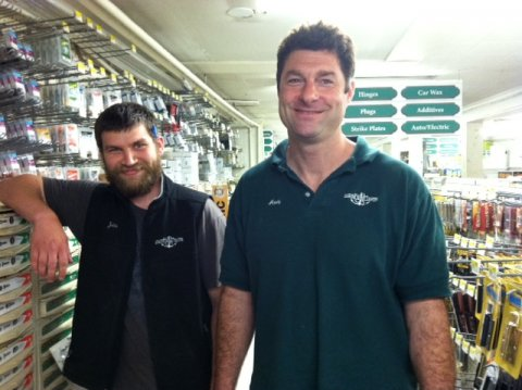 Jonathan and Andy in Hardware. Marine Home Center's island location is what General ...