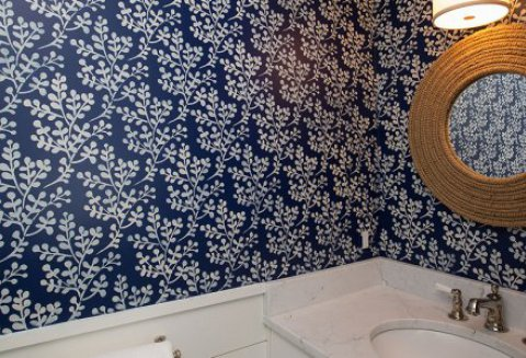 Carolyn Thayer Design- Bold print-small bath