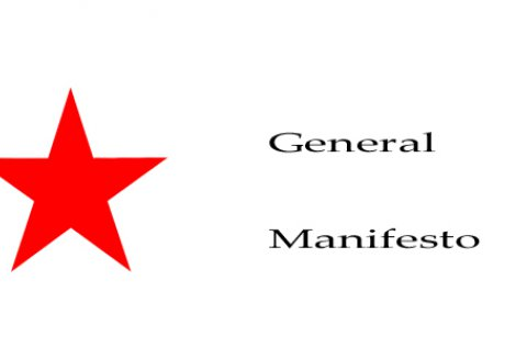 General Manifesto Red Star Flag