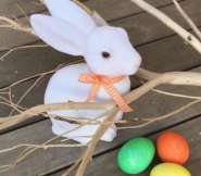Create your own Easter Tree through driftwood branches.  Photo by Christy Bassett Baker