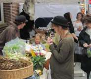 Our busy market during the summer!