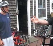 Teaching someone to ride a bike