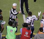 Referee and Slater Patriots coin toss