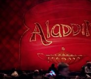 Pantomime curtain of Aladdin