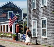 Walking a Nantucket street