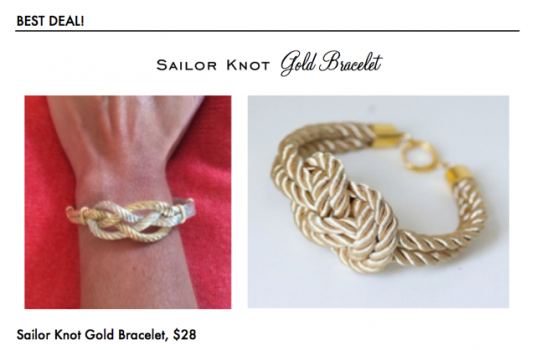 Sailor Knot Bracelet, $28