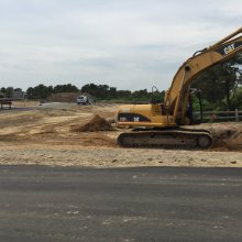 Construction on Sachem's Path, affordable housing project