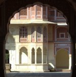 Jaipur-- First Courtyard of the City Palace, 18th Century